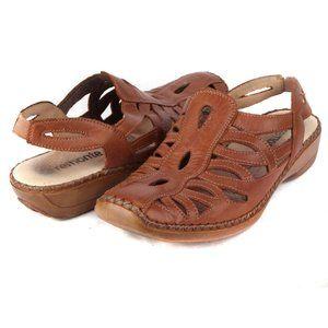 Remonte Comfort Leather Slide Mule Brown 39